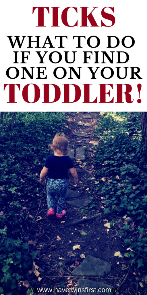 what to do if you find a tick on your toddler