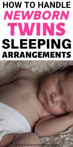 How to handle newborn twins sleeping arrangements.