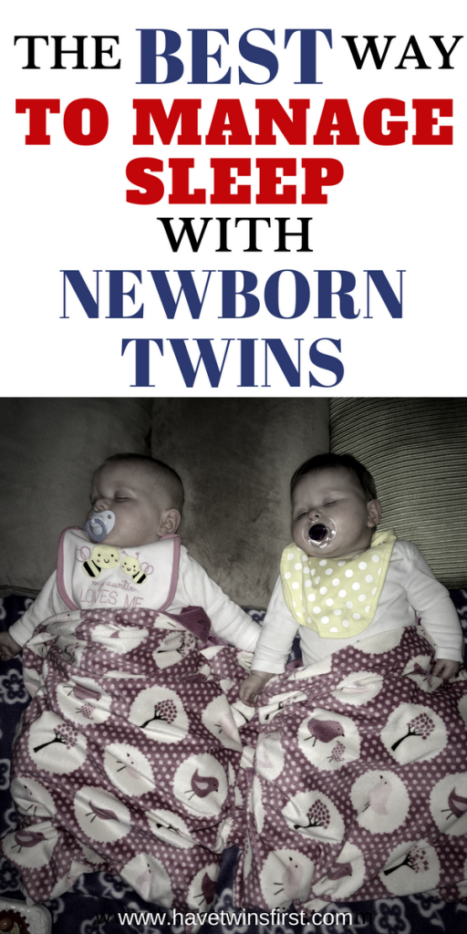 how to manage sleep with newborn twins