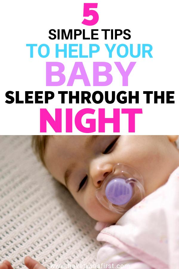 5 baby sleep through the night tips