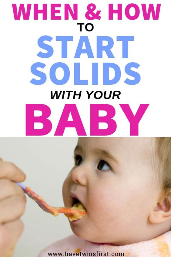 When and how to start solids with your baby.