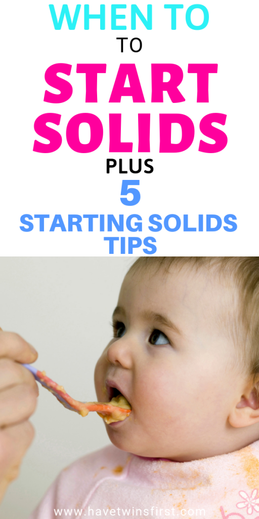 when to start solids with your baby