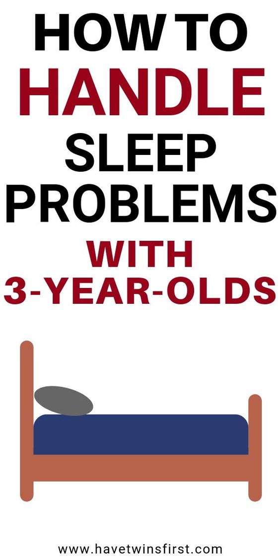 How to solve sleep problems with 3 year olds.