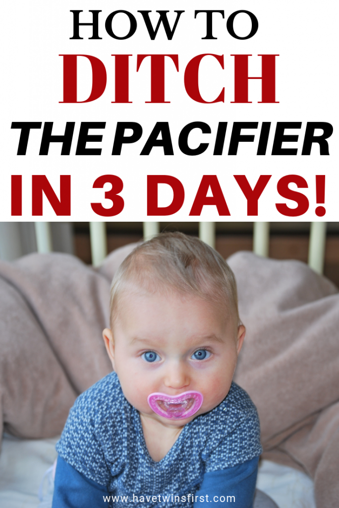 how to take away a toddler's pacifier in 3 days