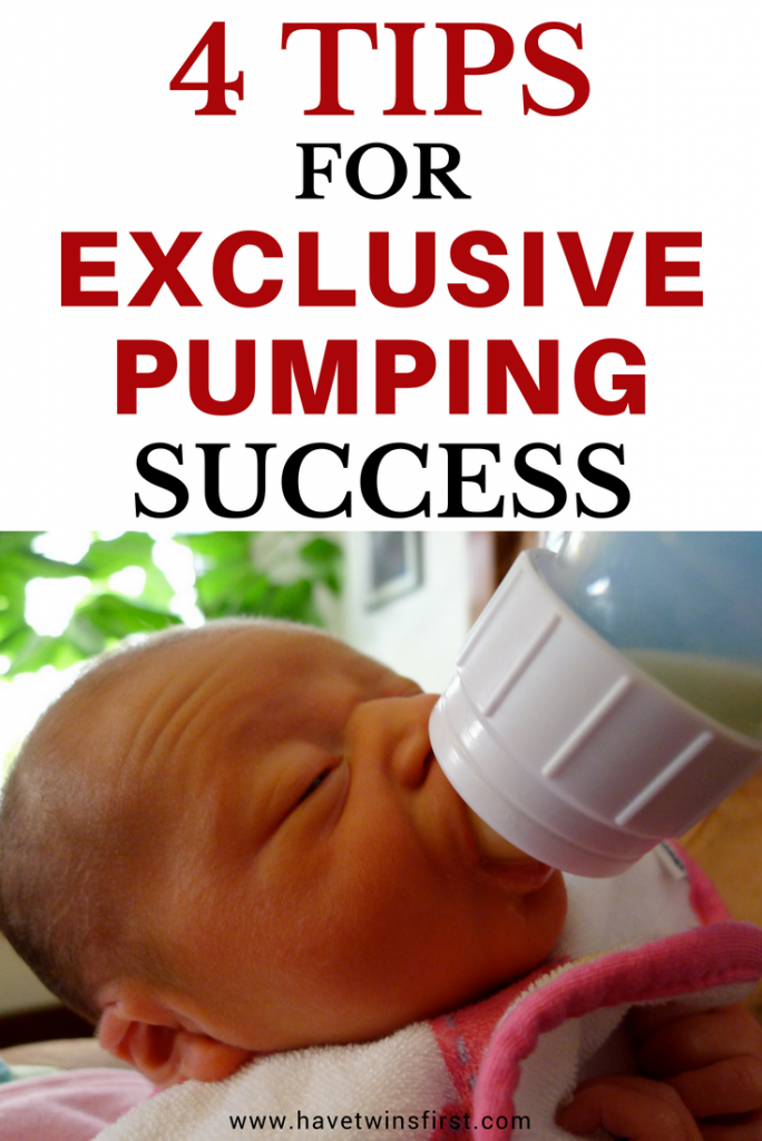 Exclusively pumping for twins. Tips to succeed with exclusively pumping breast milk.