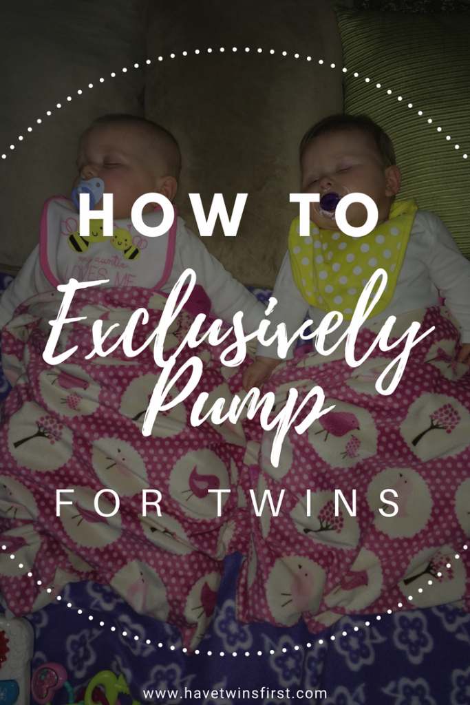 tips for exclusive pumping with twins
