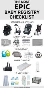 The most epic baby registry checklist.