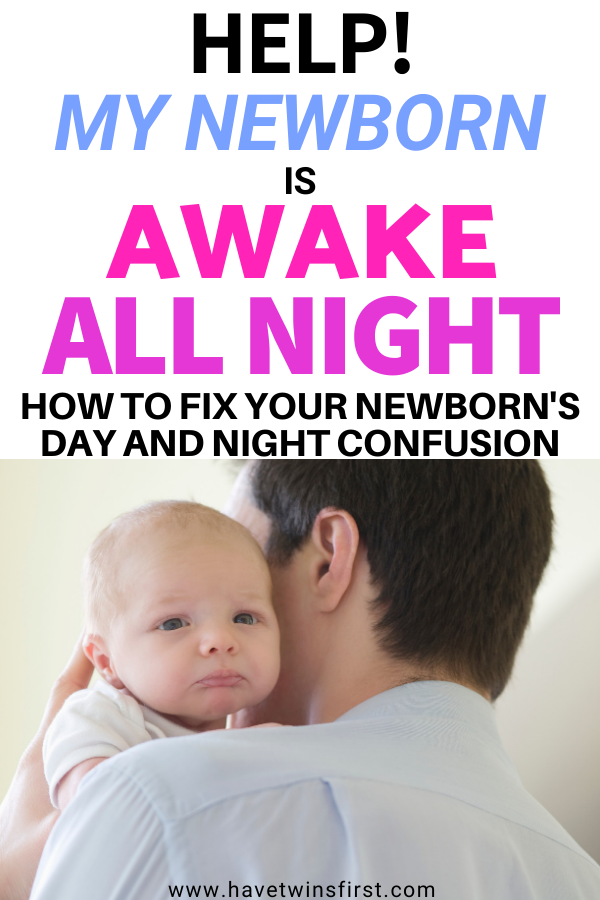 how to get a newborn that is wide awake at night to sleep