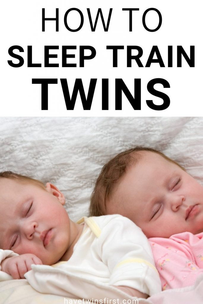 How to sleep train twins.