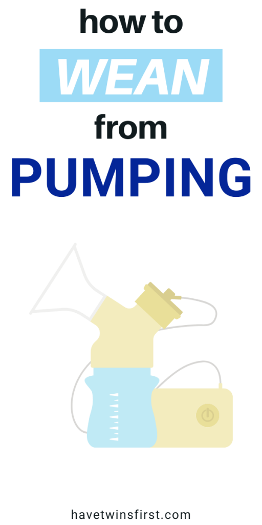 How to wean from pumping.
